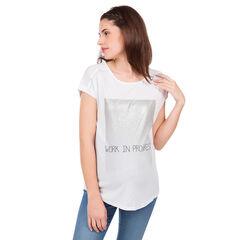 Tee-shirt manches courtes de grossesse à message fantaisie