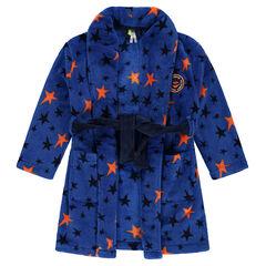 Robe de chambre en sherpa avec étoiles all-over