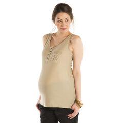Débardeur de grossesse avec poche à clous fantaisie