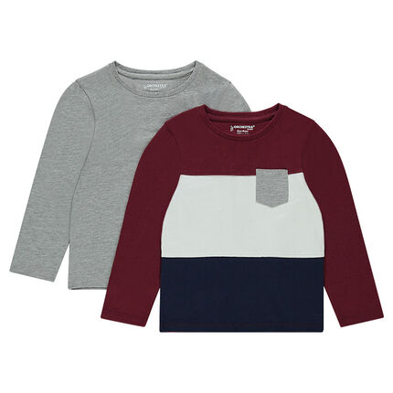 Junior - Lot de 2 tee-shirts manches longues en jersey