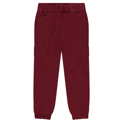 Pantalon battle en twill à poches