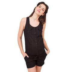 Combi-short de grossesse noire avec poches