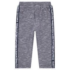 Pantalon en jersey twisté avec bandes contrastées imprimées