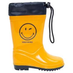 Bottes de pluie avec col imperméable et print Smiley du 24 au 27