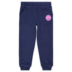 Pantalon de jogging en molleton avec print fantaisie