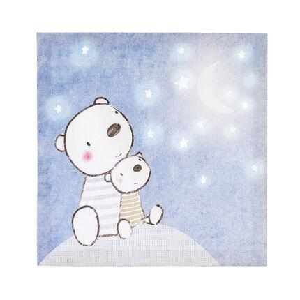 Cadre décoration print oursons et ciel étoilé