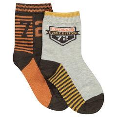 Lot de 2 paires de chaussettes assorties