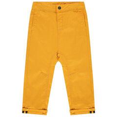 Pantalon en toile surteint à poches passepoilées