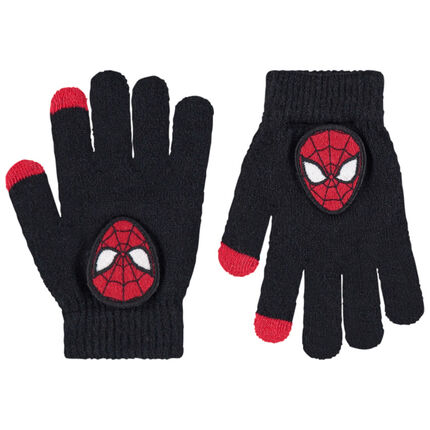 Gants en tricot avec badge Spiderman Marvel
