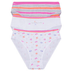 Junior - Lot de 3 culottes imprimées en coton