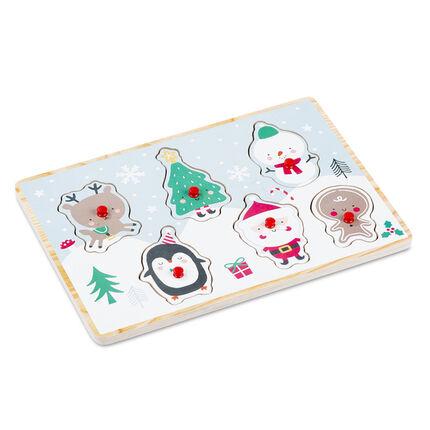 Puzzle en bois - Papa Noël
