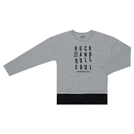 Junior - Tee-shirt à message printé et effet de superposition