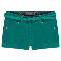 Junior - Short en velours avec ceinture amovible