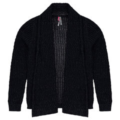 Junior - Gilet en tricot mélangé de fil doré