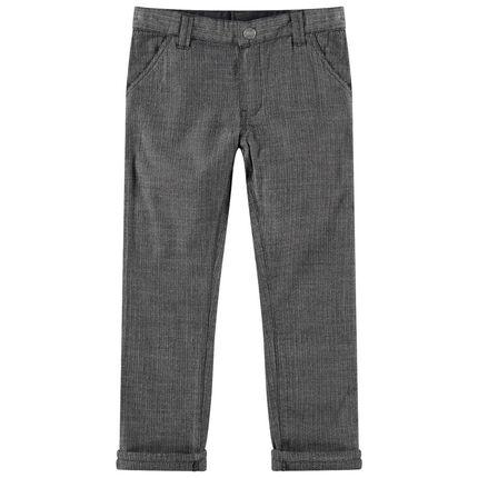 Pantalon gris foncé à chevrons