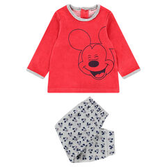 Pyjama en velours avec print Mickey ©Disney et bas all-over