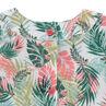 Tunique manches chauve-souris avec imprimé tropical all-over
