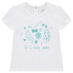 Tee-shirt manches courtes en jersey avec fruits printés