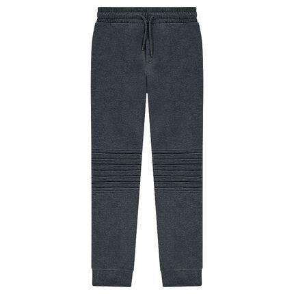 Junior - Pantalon de jogging avec jeux de surpiqûres et zips