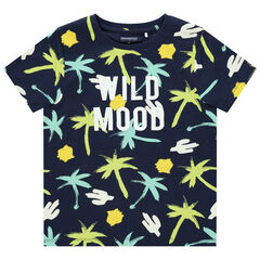 T-shirt manches courtes en coton bio print palmiers , Orchestra