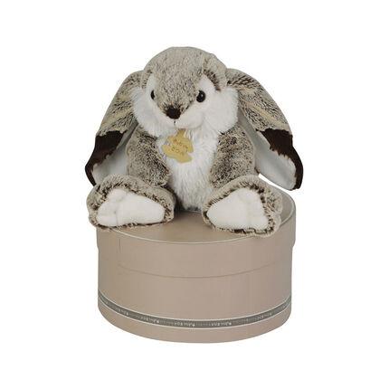Peluche lapin Marius 30 cm - Gris/Blanc