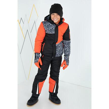 Junior - Pantalon de ski uni avec bretelles élastiquées amovibles et poches