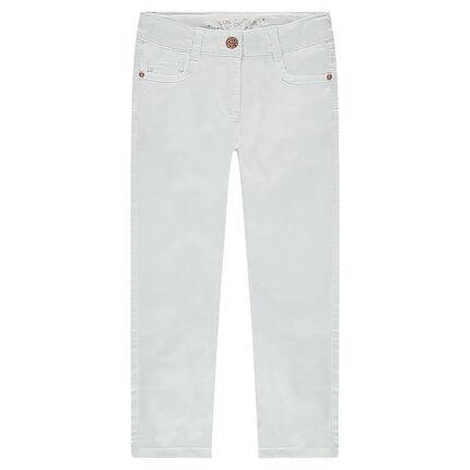 Pantalon slim pastel effet crinkle