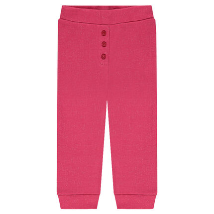 Pantalon de jogging en molleton effet brillant