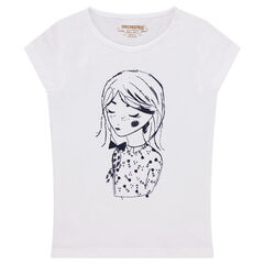 Junior - Tee-shirt manches courtes en jersey avec print poupée