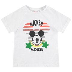 T-shirt manches courtes en jersey print Mickey Disney avec sequins magiques