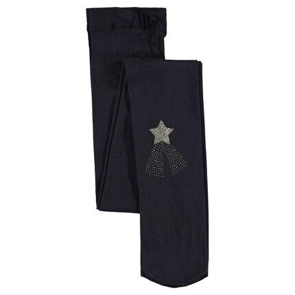 Collants fins avec étoile filante printée