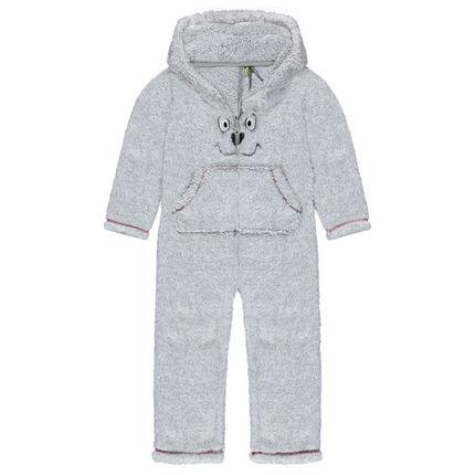 Surpyjama à capuche ours en sherpa