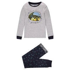 Pyjama en jersey avec print chien et pantalon à motif all-over