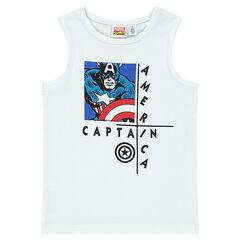 Débardeur côtelé Marvel print Captain America