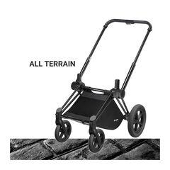 Châssis poussette Priam roues tout-terrain - Noir mat