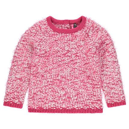 Pull en tricot effet poil maille pop-corn