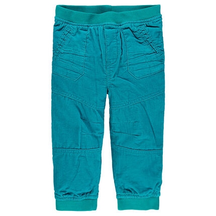 Pantalon en velours doublé en jersey