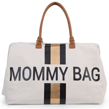 Sac à langer Mommy Bag - Blanc/noir/or