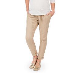 Pantalon de grossesse coupe chino en lin et coton