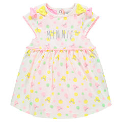 Combi-robe manches courtes avec print Minnie ©Disney all-over