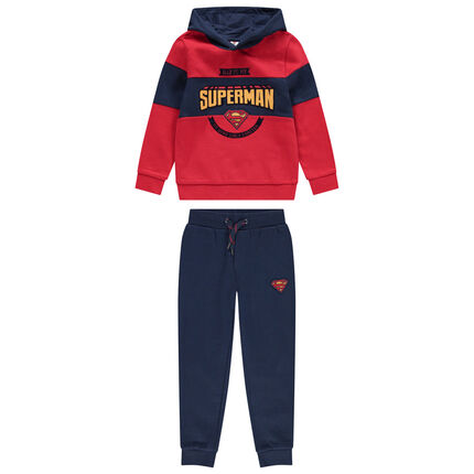 Jogging en molleton bicolore print Superman