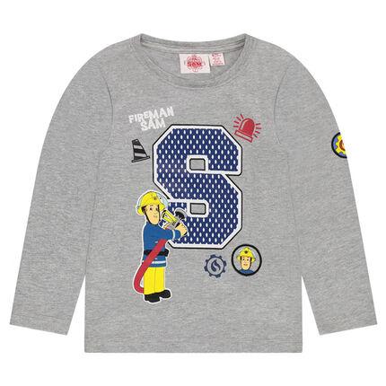 Tee-shirt manches longues avec print Sam le pompier 2 ©Prism Art and Design Limited