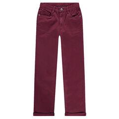 Junior - Pantalon surteint effet crinkle avec inscription reliefée