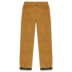 Junior - Pantalon en toile doublé jersey avec découpes