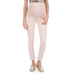 Pantalon de grossesse en twill rose poudré