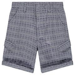 Bermuda en coton fantaisie avec poches
