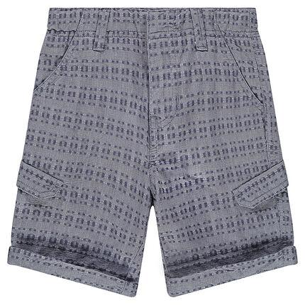 Junior - Bermuda en coton fantaisie avec poches