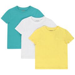 Lot de 3 t-shirts unis en coton bio