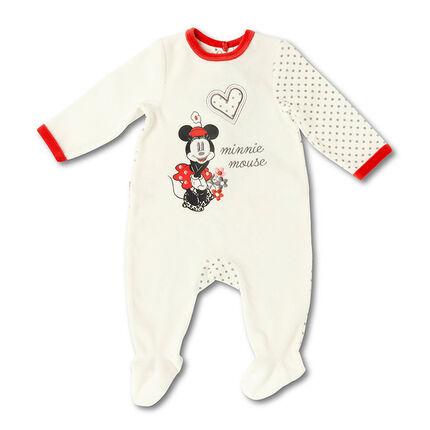 Dors-bien en velours avec print Minnie Disney
