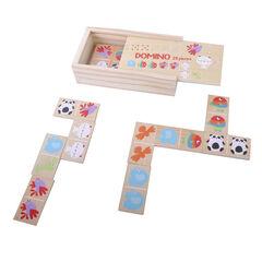 Dominos en bois 28 pièces , Prémaman